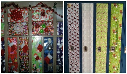 christmas locker decorations locker decorating pinterest source 1 wrappingpaper jpg - Locker Designs Ideas