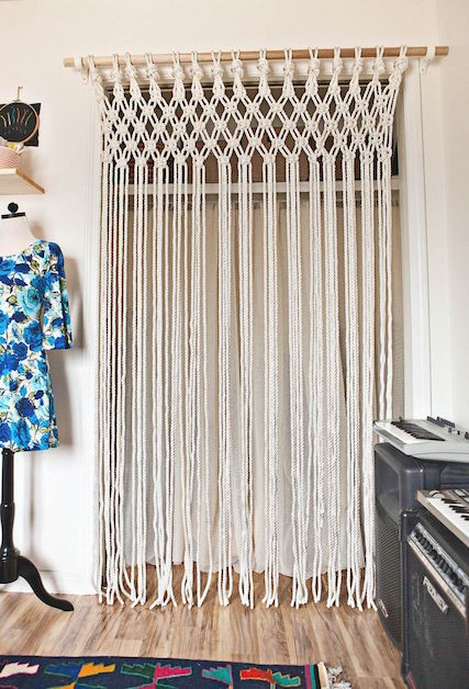 Whether You Have A Doorless Closet Or A Window That Needs Sprucing Up,  Macrame Curtains Are An Easy Solution For A Boring Room. Itu0027s Super Easy  (we Tried ...