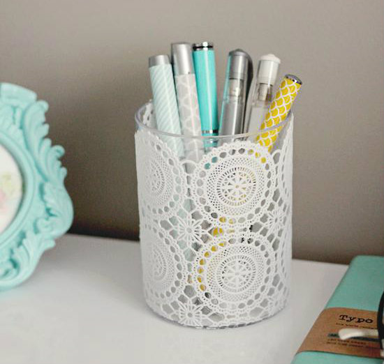 All the diy pencil holders you need for your desk girlslife Diy pencil holder for desk