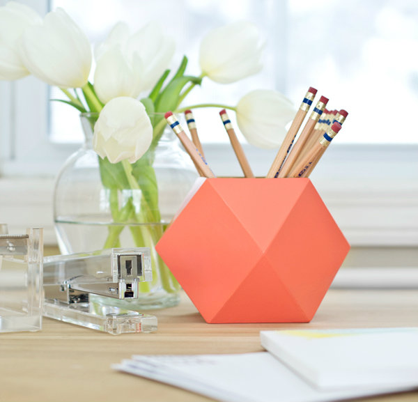 Charming Geometric Pencil Cup We Love The Modern Feel Of This Funky Container. Make  It With Patterned Paper For An Extra Pop.