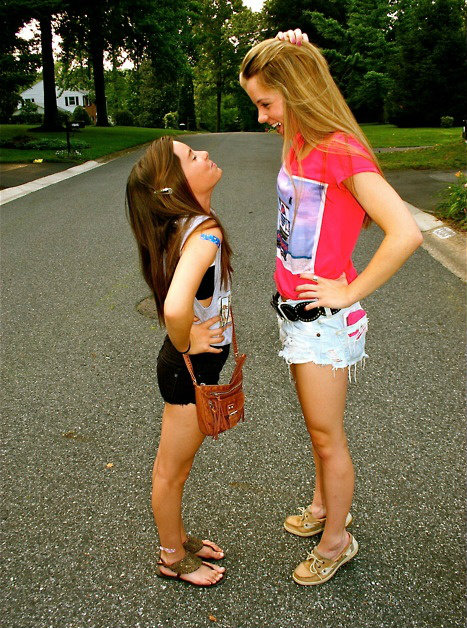 how to handle being shorter or taller than your friends