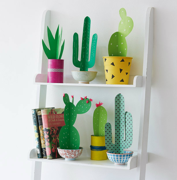 The Trick That Will Keep Your Favorite Flower Alive And: This Cute Cactus Craft Is Just What Your Room Needs