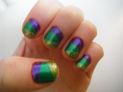 Paint A Parade On Your Nails With A Mardi Gras Mani Girlslife