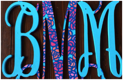 3 ways to customize your wooden monogram letters now