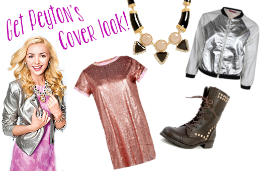 Snag Peyton List's Sparkly Cover Look