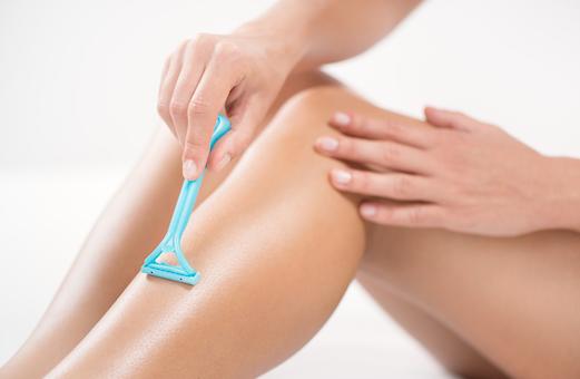 Freshly shaved legs
