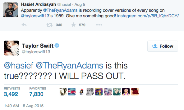 Rocker Ryan Adams covered Taylor Swift's <em>1989</em> (and