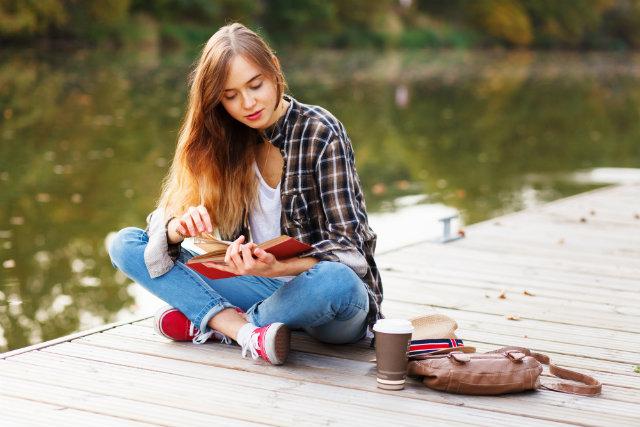 Teen read book