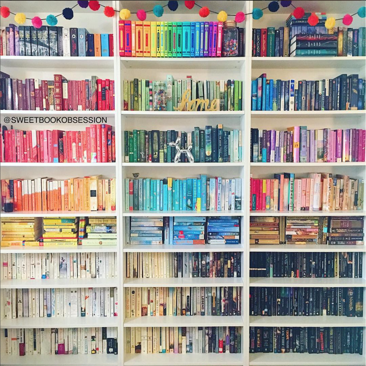 7 Everythings Better When Its Color Coded These Rainbow Shelves Are A Huge Trend On Instagram Luckily Theyre Super Easy To Recreate