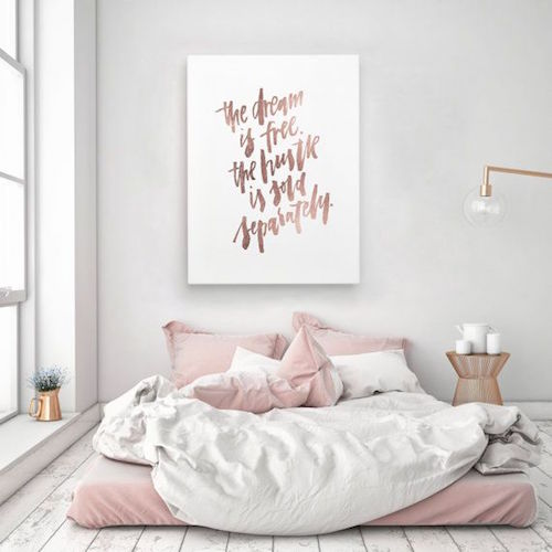 Rose Gold Bedroom Accessories